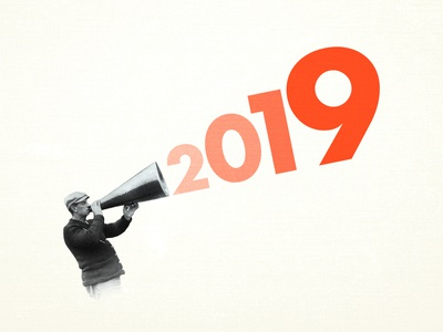 A look back at 2019 sans serif 2019 news typography futura graphic illustration texture