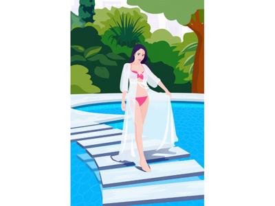 a bikini girl
