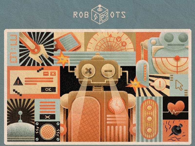 Robots illustration design robots
