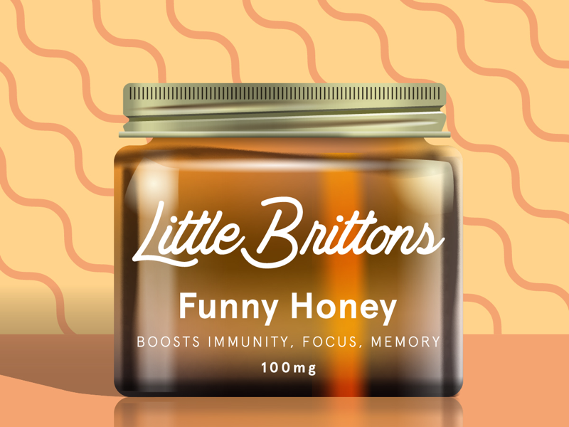 Little Brittons Funny Honey illustration little brittons design branding packaging art label design