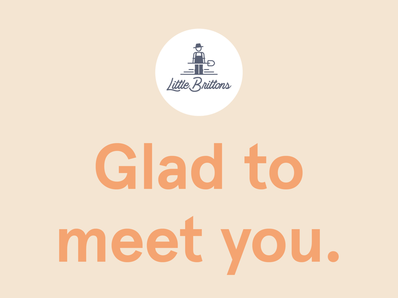 Glad to meet you. relaxed art logo typographic graphics design identity branding