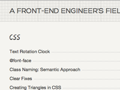 Field guide take 2 css grid graph paper front-end engineer