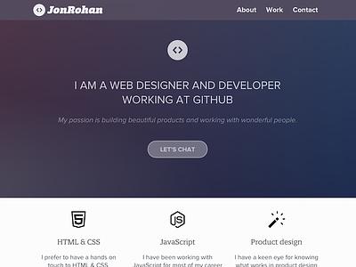 Personal site redesign developer code blog portfolio
