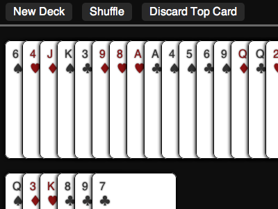 Deck of cards css3 css cards