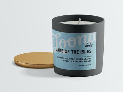 Loona Candles jar jasmine loon minnesota lake label packaging candle