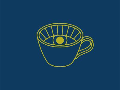 Rise and Shine / Rise and Grind grind shine rise sun logomark coffee shop monoline logo cafe caffeine mug tea coffee
