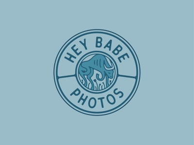 Hey Babe Photography 2 photography photos babe flowers field hiking circle emblem logo stamp seal branding photographer minnesota ox