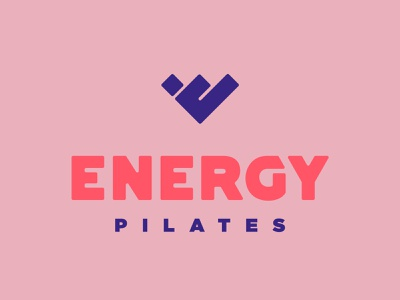 Energy Pilates pose teaser exercise feminine womens gym e bold logotype logo branding barre yoga fitness pilates energy