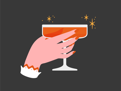 Witch's Brew vectober spooktober halloween stars sparkles magic witchy cheers liquor drink stem glass hand cocktail witch
