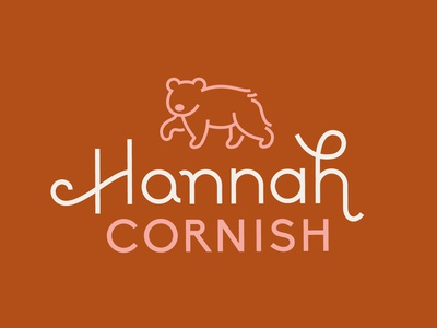 Hannah Cornish Logo lettering typography palindrome bear logo branding personal
