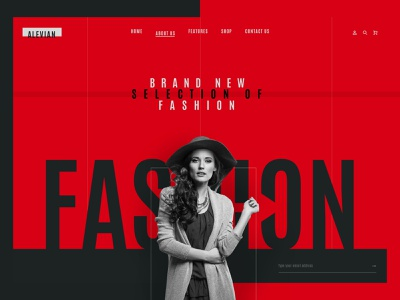 alevian ux ui page interface collection fashion brand woman nature art typography layout photography web design fashion