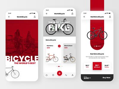 Bike Shop light design ui home layout app design mobile shopping app bicycle shop bicycle app bicycles bicycle bike