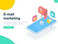 Email  Marketing Isometric illustration