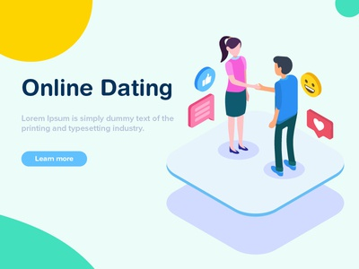 Online Dating Isometric Illustration