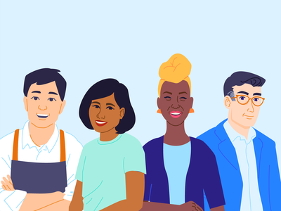 Take Care of Your Peeps humans illustrations diversity employees people