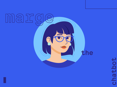 Marge the Chatbot illustration techy woman portrait lady chatbot