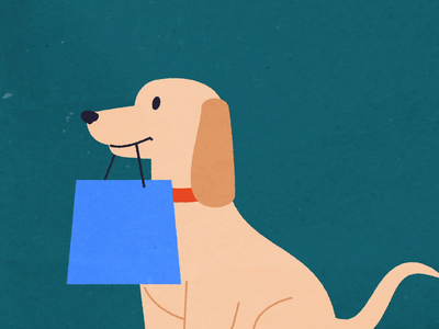 Holiday Shopper: Steady Shopper illustration shopping christmas holiday 2d animation animation dog