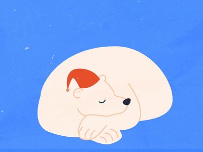 Holiday Shopper: Procrastinator holiday sleeping sleepy bear polar bear animation 2d animation