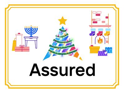 Assured Holiday Treatment christmas lights lights holiday card gifts presents menorah stockings fireplace christmas tree christmas holiday