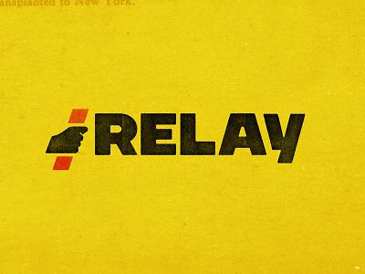 Relay Logo race relay logodesign hand baton branding logo