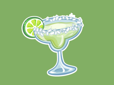 Margarita Sticker texas tropical frozen glass salt lime margarita drink alcohol sticker