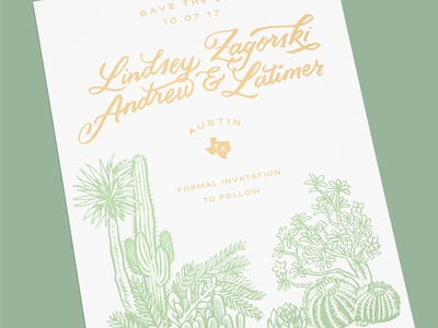 Save The Date lettering save the date wedding desert cacti