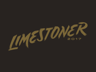 Limestoner 2017 lettering type brush