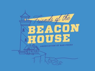 Beacon House light rocky coast lighthouse shirt