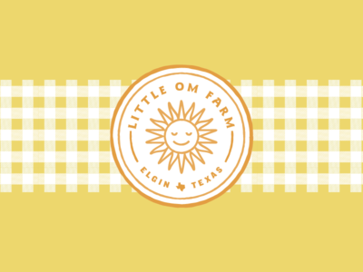 Little Om Farm texas farm yoga meditating logo sun