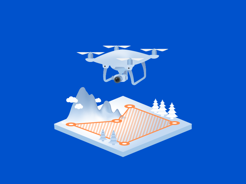 Dronez quad flying terrain mountains drone isometric