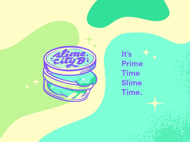 Slime City B blobs logo slime