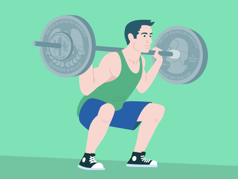 Great Form, Brah weight lifting squat strong fitness health finances dime quarter