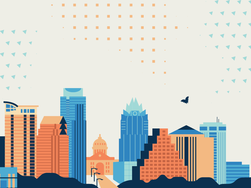 Austin Skyline buildings city skyline austin illustration