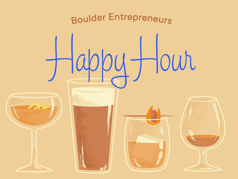 Happiest of hours illustration cocktail bar happy hour glass glasses bourbon beer cocktail