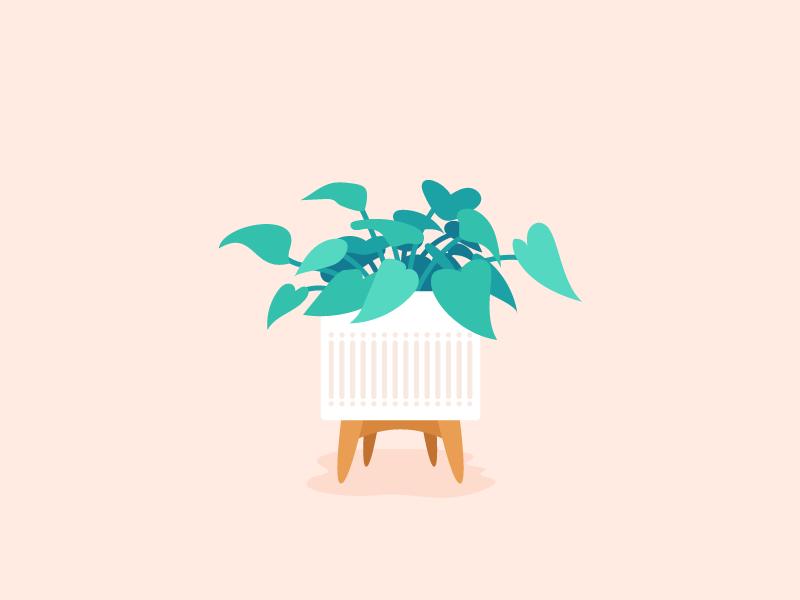Put a Plant on It plant illustration mid century modern indoor plant plant