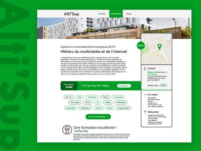 Alti'Sup Education page green webdesign website education website page education interface ui ux user concept design