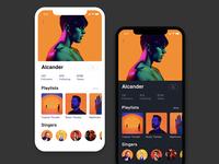 Music App Friend's Profile