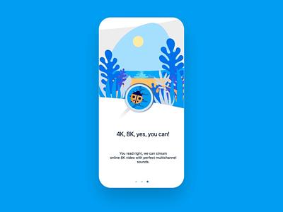 VR 360 Onboarding interaction animation principle mobile app onboarding app webdesign ui design