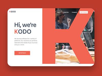 KODO ux design ui design website interface landing page webdesign ui  ux interaction