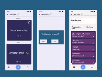 Language translation app for an iPhone user. ios app design languagetranslator adobexd uxuidesign uxdesign ux ui mobileappdesign mobileapp