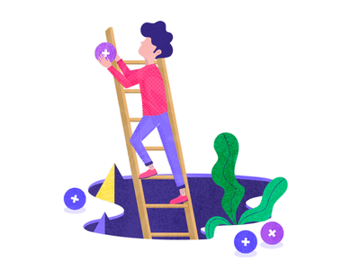 Itsalive - illustration #2 ladder textures itsalive geometric chatbot illustration