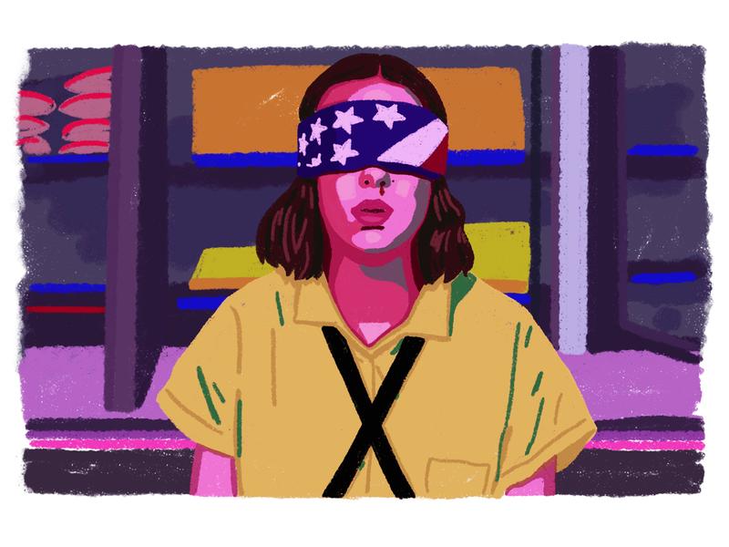 Eleven netflix character 80s style brush colors illustration ipad procreate stranger things eleven
