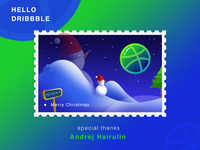 Hello Dribbble-Merry Christams