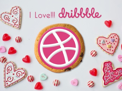 PlayOff!!! Dribbble Sticker Pack love cookie sticker stickermule sticker mule dribbble sticker