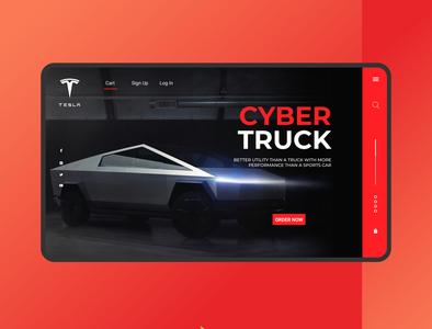 Tesla Cyber Truck web design