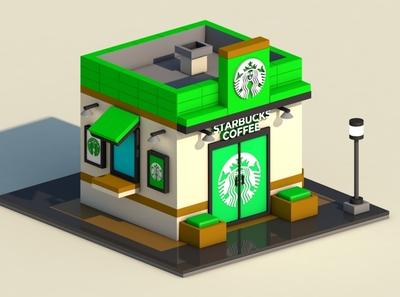 Starbucks Coffee Low Poly