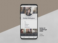 DailyUI Challange 006 Use Profile