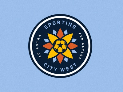 Sporting City West Secondary Mark design branding logo sporting kc kansas city sports soccer