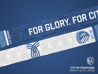 Sporting KC City of Fountains Scarf - 2018
