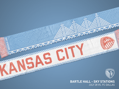 Sporting KC Bartle Hall Plyons Scarf - 2018